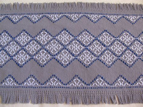 swedish weaving  | Celtic Cross Holiday Table Runner-Swedish Weaving-Gray Monk's Cloth ...