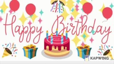 Zoom Virtual Background Maker In 2020 Happy Birthday Fun Happy Birthday Gif Images Birthday Cake Gif