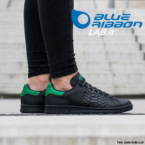 Adidas Sale Originals Black Stan Smith Snake trainers for cheap