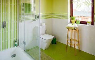 10 Refrescantes Banos En Color Verde Limon Bagno