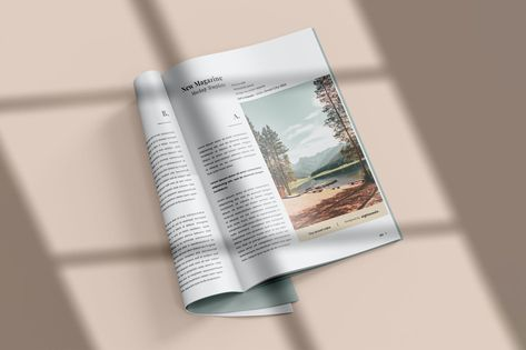 Magazine Mock-Up Template by EightonesixStudios on Envato Elements