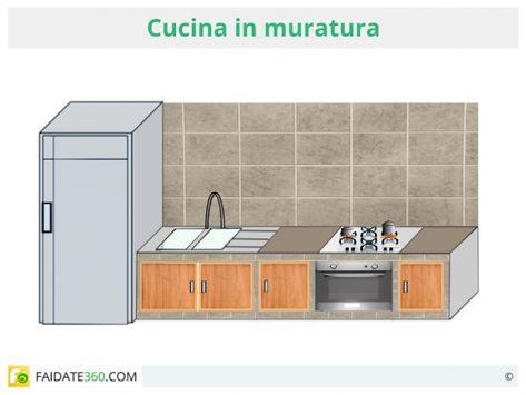 Vediamo come costruire una cucina in muratura fai da te: dal ...