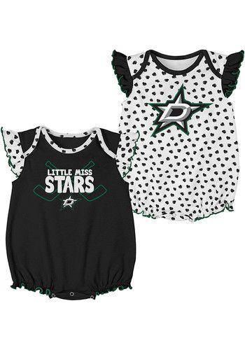 a2404f9f Dallas Stars Baby Black Hockey Hearts Set One Piece - 13346420 | NHL ...