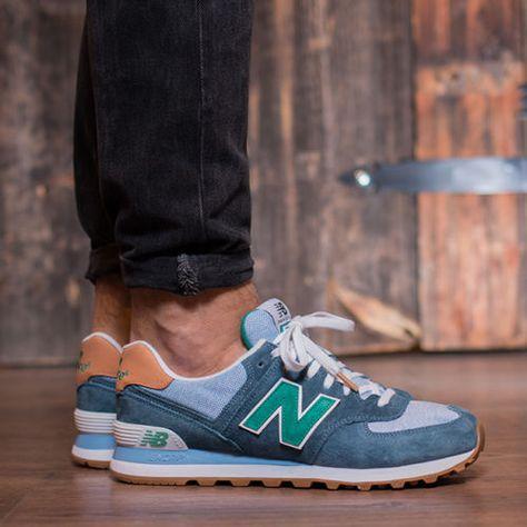 scarpe uomo new balance 574 azzurre