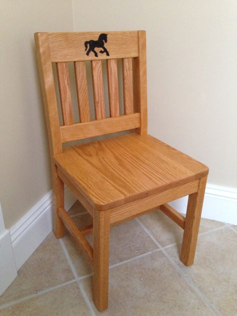 Cool Personalized Childrens Chair 14 Inch Honey Brown Oak Kids Unemploymentrelief Wooden Chair Designs For Living Room Unemploymentrelieforg