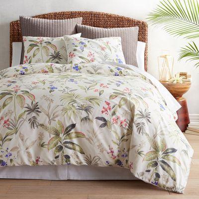 Trinity Palm Duvet Cover Sham Luxury Bedding Sets Orange Duvet Covers Colorful Duvet Covers