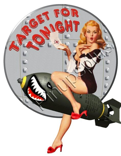 Pin Ups Plus - Retro Pinup Decals WWII Marilyn Pinup Girl Bomber Art Rivets Waterslide Decal - This image measures approximately 4 & inches tall from the tallest point top to bottom and approximately 3 & inches wide at its widest point side to side.