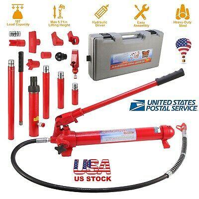 10 Ton Hydraulic Jack Air Pump Lift Ram Body Frame Repair Tool Kit Air Pump Repair Tool Kit