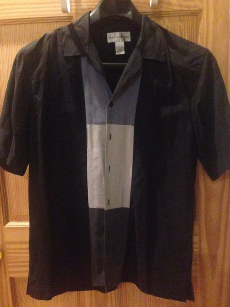 Men's Croft & Barrow Medium Silk Shirt #CroftBarrow