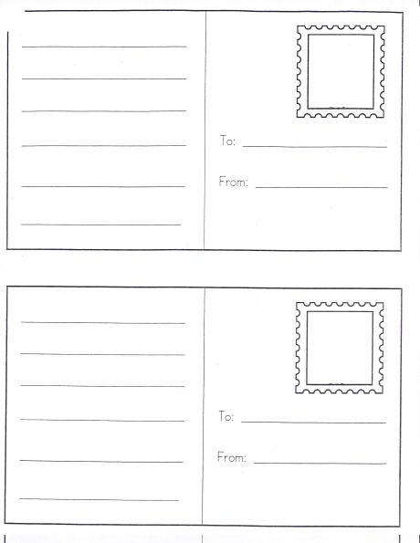 Friendly Letter TEMPLATES with Envelope ~ With the 5 Parts of a - letter envelope template
