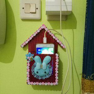 Tempat Charge Hp Dari Stik Es Krim Dengan Gambar Kerajinan