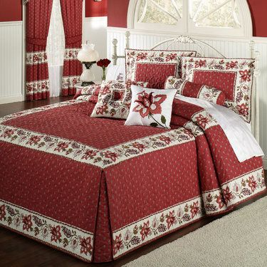 Chateau Rouge Oversized Fitted Bedspread Bedding Com Imagens