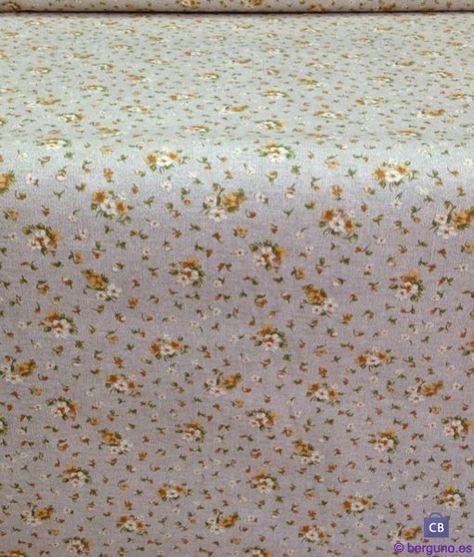 Tela de Mantel Resinado Antimanchas Flores Amarillas. Mezcla Algodón/Poliester resinado y teflonado.Ancho 140 cm