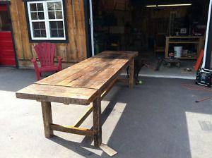 1 450 218 0815 Canada Boutique Cadeaux Quebec Table En Bois De Grange Quebec A Vendre Antiquites Avendre Home Decor Picnic Table Rustic Dining Table