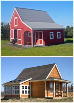 Inexpensive, Simple and Flexible Small Pole-Barn Plans and