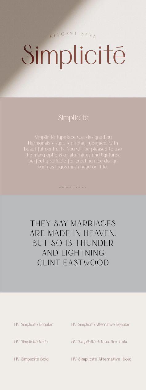 Simplicite' - Elegant Sans Serif Font