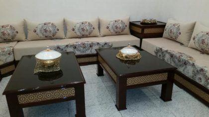 Salon marocain moderne marron et beige | hanan en 2019 ...