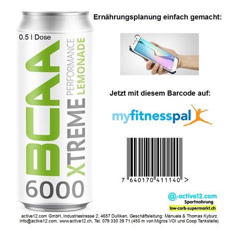 Ernährungsplanung einfach gemacht: Der geniale BCAA 6000 Xtreme Performance Lemonade ist jetzt mit Barcode-scan in myfitnesspal integrierbar! ►►► Online bestellen: http://www.active12.ch/Nahrungsmittel-und-Sportnahrung/Sportnahrung-und-Ergaenzungen/Guarana-Koffein/BCAA-6000-Xtreme-Performance-Lemonade-Fresh-Drink.html ►►► Lagerverkauf: http://www.active12.ch/info/Oeffnungszeiten.html #Ernährungsplanung #Ernährungsplan #BCAA #BCAA6000 #BCAA6000XtremePerformanceLemonade #Barcode #myfitnesspal