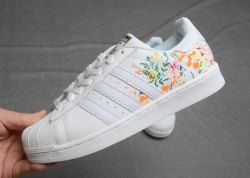 Adidas Wmns Superstar Lotus Print Flower Schuhe AF5582 Women's Casual Sneakers Shoes