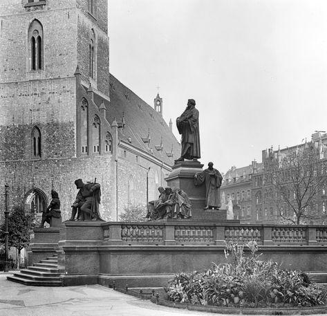 1920ca Lutherdenkmal Berlin Geschichte Kirchen Bilder
