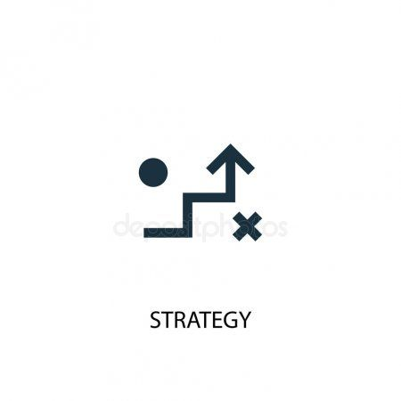 Strategy Icon Simple Element Illustration Strategy Concept Symbol Design Can Affiliate Simple Element Strategy Icon Symbol Design Strategies Icon