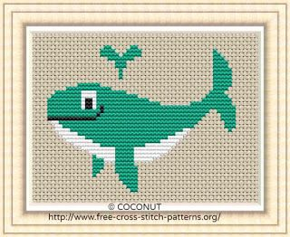 Whale Free And Easy Printable Cross Stitch Pattern Cross Stitch