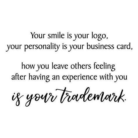 Your Trademark Wall Quotes Office Professional Vinyl Decal Your Smile Is Your Logo Personality Motiv