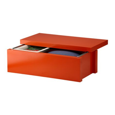 Superieur MALM Storage Unit By IKEA: Sliding Lid Allows You To Keep Items On Top Of  It When Open. Love The Orange Color   Thinking Of End Of Bed Storage (plus  Can Sit ...