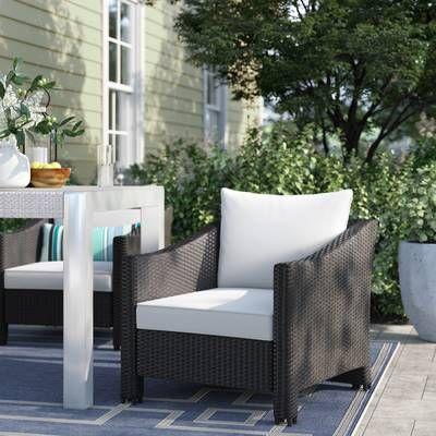 Ivy Bronx Arciniega Outdoor Wicker Patio Dining Chair Wayfair Wicker Patio Chairs Outdoor Dining Chairs Patio Chairs
