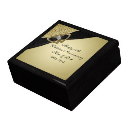 50th Wedding Anniversary Gift Box Zazzle Com 50 Wedding Anniversary Gifts 50th Wedding Anniversary Wedding Gift Boxes