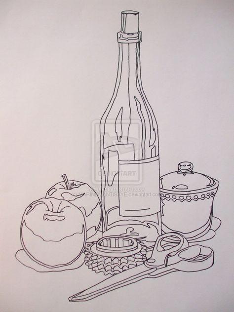 Contour Line Drawing by ~MARINEMANTIS3YE on deviantART
