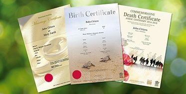 births deaths marriages birth certificate