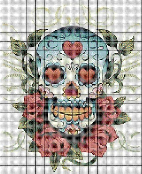 Skull candy cross stitch