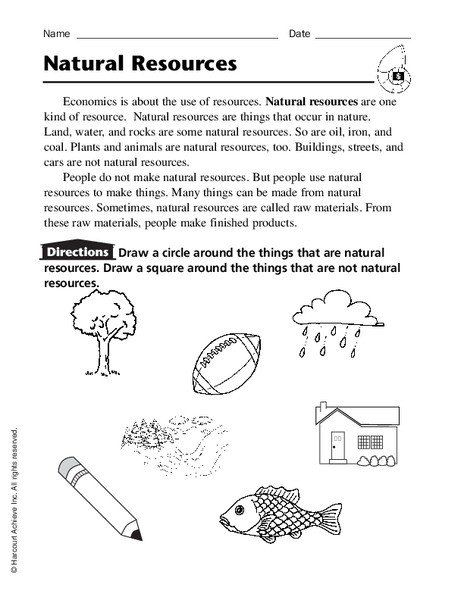 Natural Resources Worksheets 3rd Grade Natural Resources Worksheet For Ki Kindergarten Addition Worksheets Kindergarten Worksheets Third Grade Vocabulary Words