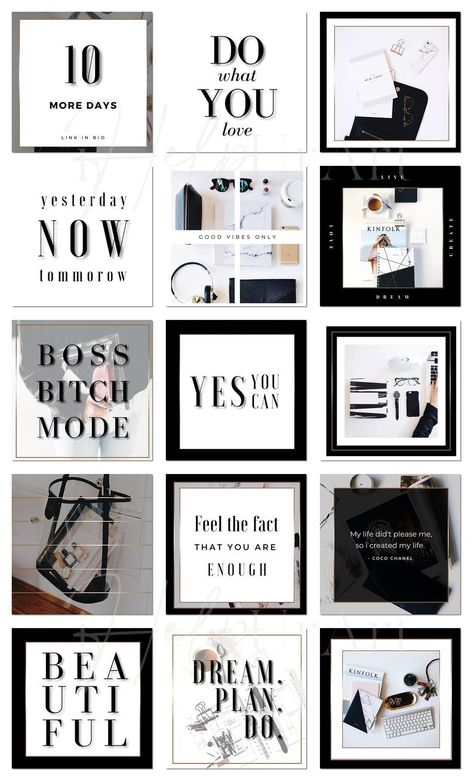 Instagram Posts Templates for Canva - Editable Instagram Posts - Lady Boss Instagram Layout - Luxury