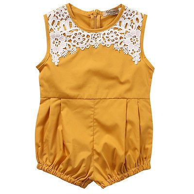 c8f0aa310 Marigold and Lace Romper - Baby Girl