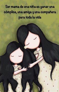 Ser mama de una niña, madre e hija,10 de mayo día de las madres