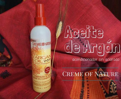 Aceite De Argan Acondicionador Sin Aclarado De Creme Of Nature