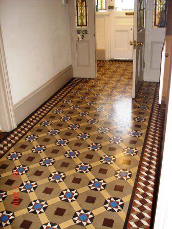 What A First Impression Whytile Craftsmanship Victorian Hallway Tiles Tile Doctor Victorian Tile Restoration Tiled Hallway Victorian Tiles Hall Tiles