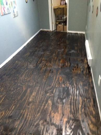 Plywood Plank Flooring Ruth Yoder 8 1 16 Featured On Remodelaholic Plywood Flooring Flooring Plywood Flooring Diy
