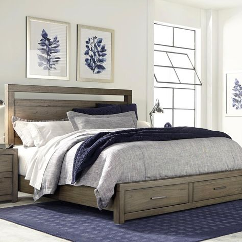 The Aspenhome Bedroom Queen Panel Storage Bed Is Available In The