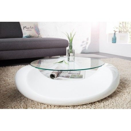 Table Basse Verre Blanc Laque Lepetitsiam