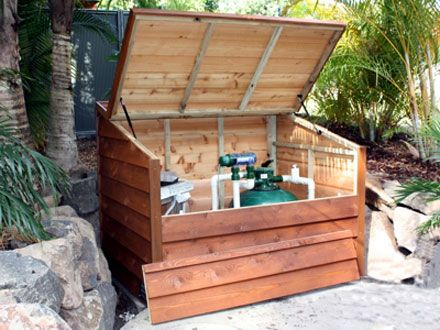 Custom Made Pool Filter Covers In Timber Or Aluminium Pool Filters Pool Equipment Poolside Furniture