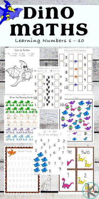 Free Dinosaur Math Worksheets These Super Cute Preschool And Kindergarten Addition Worksheets Kindergarten Math Worksheets Kindergarten Worksheets Printable