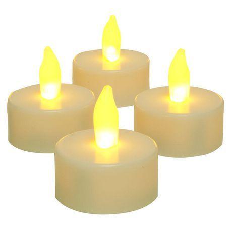 Inglow Flameless 4 Pack Tea Lights Off White Tea Lights