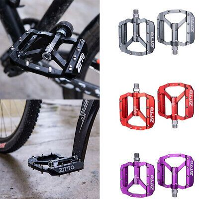 1 Pair Red Bike Cycling Platforms Flat Pedals Aluminum Alloy Mountain BMX MTB