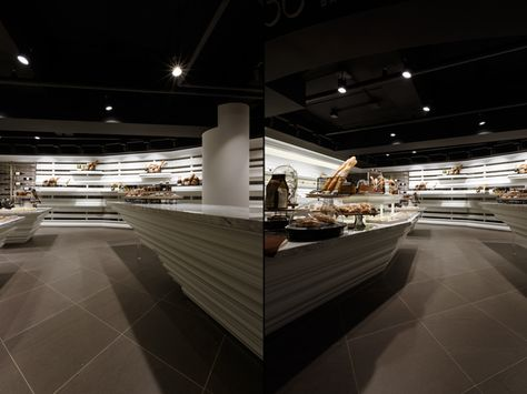 Superb The Main Counter Has Hard Lines And Sharp Points That Add Drama To The  Design.   Shop Interior   Pinterest   Bakeries, Wine Shop Interior And Shop  Interior ...