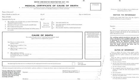 Verification and certification of death an introduction for - cdl medical form