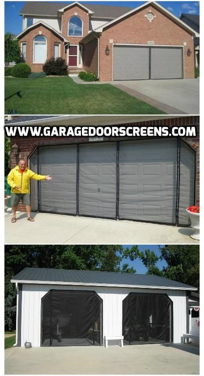 Celebrate Your Children S Graduation Have The Party In The Garage On The 4th Of July Memorial Day And Labo Garage Screen Door Diy Screen Door Garage Doors