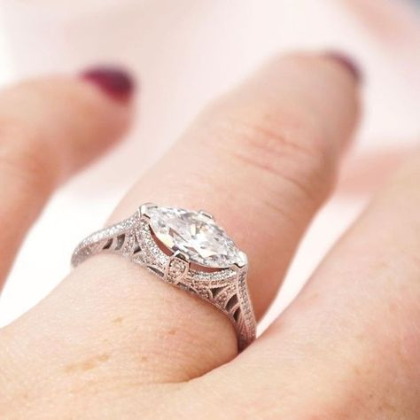30+ Trendy Wedding Band Marquise Engagement Ring Ideas